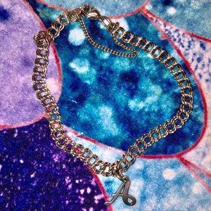 James Avery Charm Bracelet w/ letter A charm